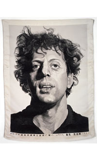Chuck Close. Tapestry 1991 © Chuck Close. Photograph by Ellen Page Wilson, courtesy Pace Gallery