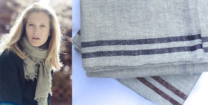 Photo 1 : Laure Gomez Montoya, Photo 2 : Cashmere, Cappadocia with Bicycle and burgundy or blue stripes. Courtesy of GoDoBe