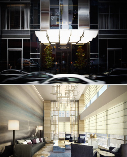 Photo 1: Entrée, Park Hyatt New York, Photo 2: Spa, Park Hyatt New York. Courtesy Park Hyatt New York