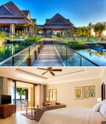 Photo 1: The Retreat, Photo 2: Beachfront Deluxe King Room. Courtesy Westin Turtle Bay Resort & Spa