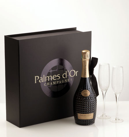 Black is beautiful, Coffret Palmes d'Or, Nicolas Feuillatte. Courtesy Nicolas Feuillatte