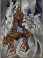 Robert Delaunay, Red Eiffel Tower, C'est maintenant Mai 2016 PLUMEVOYAGE @plumevoyagemagazine. © Solomon R. Guggenheim Museum, New York, Solomon R. Guggenheim Founding Collection