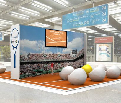 Roland Garros in Paris airports