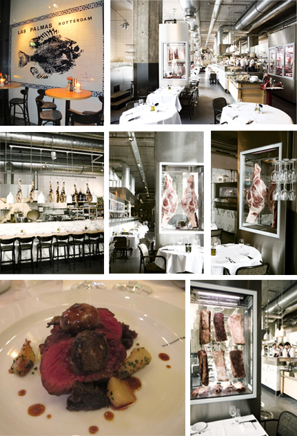 From top to bottom and left to right: Photos 1, 2, 3, 4, 5 and 6: Interior of the restaurant, 6: Dish © Ludovic Bischoff