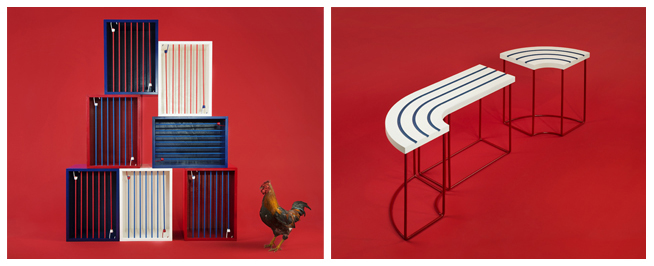 Photo 1: So French, Coq Cage © 5.5 designstudio/C CLIER Photo 2: So French, Race Mariniere © 5.5 design studio / C CLIER