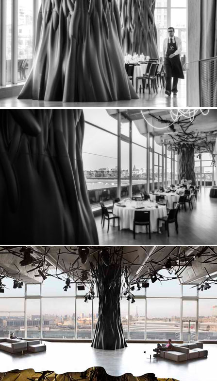 Dine in silence and mindfulness, at Parc des expositions, Porte de Versailles in Paris, Courtesy of Diner en silence