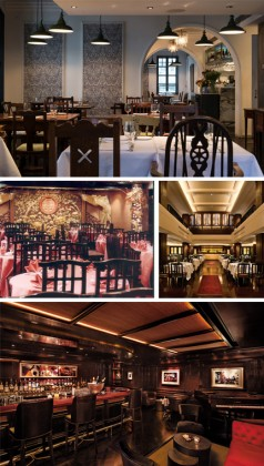 Photo 1: Pawn Dining Hall © HK Tourism Photo 2: Yung Kee Dining Hall, 2nd floor © HK Tourism Photo 3: Peninsula Spring moon © Peninsula Photo 4: Peninsula Bar © Peninsula