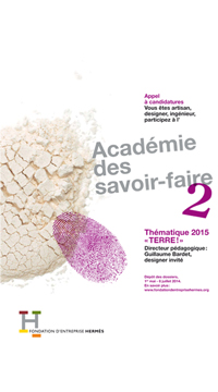 « Earth »: a call for applications for the Skills Academy Programme organised by the Fondation d'entreprise Hermès.