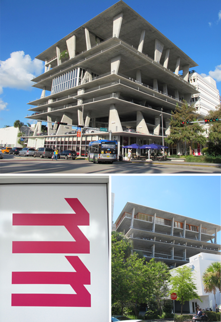 The Parking located at 1111 Lincoln Road is a real art of lightness and daring work. Photos by Ludovic Bischoff.