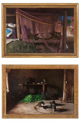 Photo 1: Xu Zhen by MadeIn Company Prey-House No.19, Naluo Village, Butuo County, Liangshan Yi Autonomous Prefecture, Sichuan province, China 2014 Oil on Canvas, Golden Frame 180 x 244 x 12 cm Courtesy Galerie Nathalie Obadia, Paris/Bruxelles Photo 2: Xu Zhen by MadeIn Company Prey-House No.7, 008 Xiangdao Road, Butuo County, Liangshan Yi Autonomous Prefecture, Sichuan Province, China 2014 Oil on Canvas, Golden Frame 148,5 x 212,5 x 7 cm Courtesy Galerie Nathalie Obadia, Paris/Bruxelles