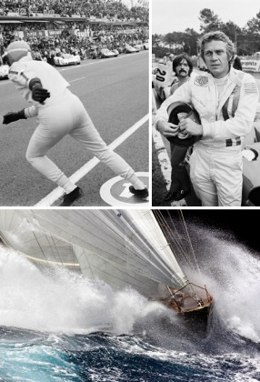 Photo 1: Zurini, Le Mans 1969, Photo 2: Zurini & McQueen 1970 , Photo 3: Borlenghi, Shamrock. Courtesy of Sakura Gallery