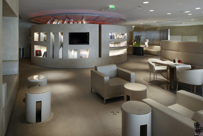 'La Première' Lounge, at Charles de Gaulle airport, Paris, Courtesy of Air France.