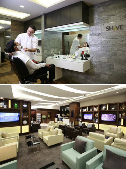 Etihad Lounge Abu Dhabi. Courtesy of Etihad