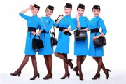 Sweet stewardesses at Xiamen Airlines, Xiamen Air uniforms. Courtesy of Xiamen Air
