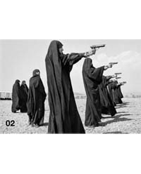 Last Call. Shooting Practice by Jean Gaumy, Teheran, Iran, 1986. Courtesy of CO Berlin