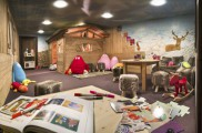 Kid's chalet. Hotel Manali, Play Room. Courtesy of Hotel Manali
