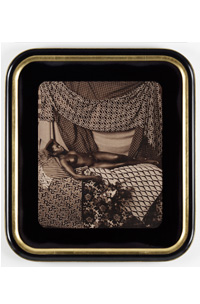 Courbet 5, Marie. Relaxing, by Mickalene Thomas (mock frame). Courtesy of Galerie Nathalie Obadia