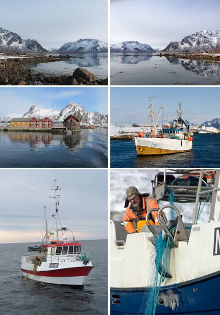 Fishing for cod in the Troll Fjord is an unforgettable experience available to all. Photos 1-3 & 5: Troll Fjord, photos by Ludovic Bischoff Photo 4 & 6: Nordic Life, Terje Rakke