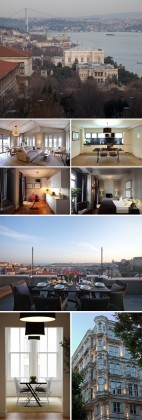 Image 1: Chambre avec vue, X Flats, Istanbul Image 2, 3, 4, 5, 7: Interieurs, X Flats, Istanbul Image 7: Terrasse salle à manger , X Flats, Istanbul Image 8: Exterieur , X Flats, Istanbul