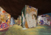 «Klimt and Vienna, a century of gold and color» at the Carrières de Lumière, Les Baux-de-Provence