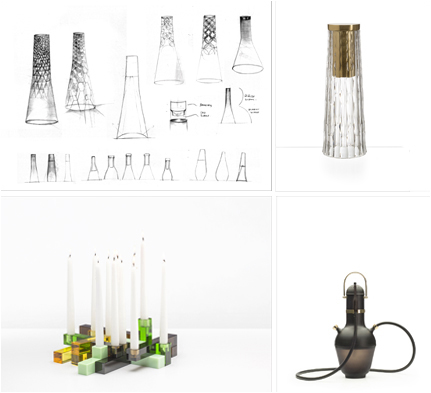 Image 1 & 2: Babel sketch & Table Lampe rechargeable LED par Noé Duchaufour Lawrance, Product 2, GAIA&GINO Image 3: SILUET, Play Range par PearsonLloyd, GAIA&GINO Image 4: Hookhayon par Jaime Hayon (noir), GAIA&GINO