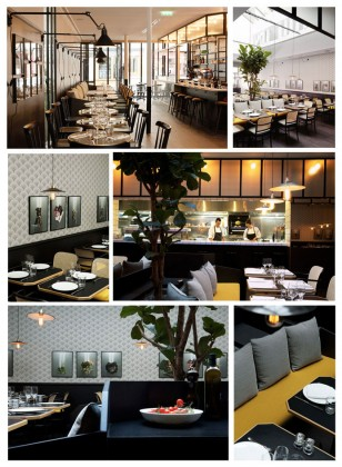 From top to bottom and left to right, Photos 1,2,3,4,5 and 6: Interior and open kitchen of the restaurant © Manger