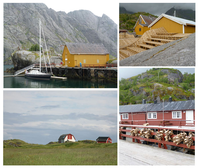 Lofoten Islands. Wooden houses. ©Marie Le Fort