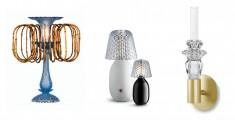 from left to right : Lamp Amuleto by Fernondon and Humberto Campana / Candy Light and Baby Light by Jaime Hayon / Lights of Harcourt by Ecal school for Baccarat (D'Days)