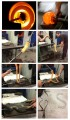 Photos from 1 to 6: The different steps of the creation of a chandelier branch taken in the heat of the moment at the manufacture ©Plume