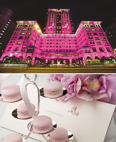 "With ""Peninsula in Pink"", the luxury hotel is mobilizing against breast cancer"