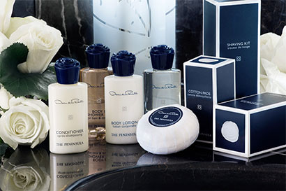 Peninsula Hotels and Oscar de la Renta create an exclusive collection of beauty products