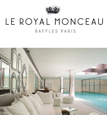 Le Royal Monceau Raffles Paris spa. PLUME VOYAGE Magazine.