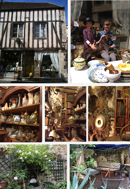 From left to right and top to bottom, Photos 1 and 2: Exterior and shop window ©Association Renaissance, 3, 4 and 5: objects inside © Association Renaissance, 6 and 7: Courtyard © Association Renaissance