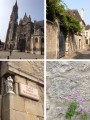 From left to right and top to bottom ©Plume, Photo 1: Church, 2: Street, 3: Street sign, 4: Alley wall