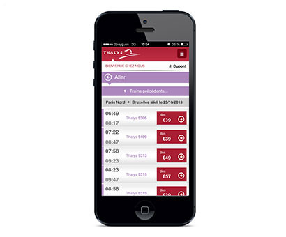 Thalys lance une nouvelle version de son application mobile.
